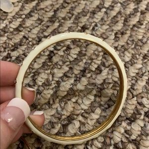 White and gold bracelet bangle
